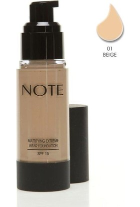 Note Mattifying Fondöten Spf15 Beige 01 35Ml