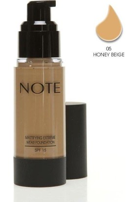 Note Mattifying Fondöten Spf15 Honey Beige 05 35Ml
