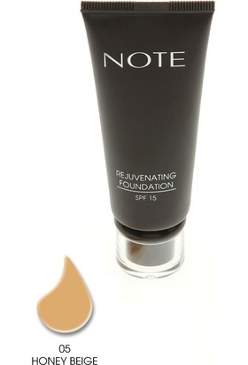 Note Rejuvenating Fondöten Spf15 Honey Beige 05 35Ml