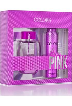 Rebul Colors Miss Pink Edp 75Ml Kadın Parfüm + 150 Ml Deodorant Set