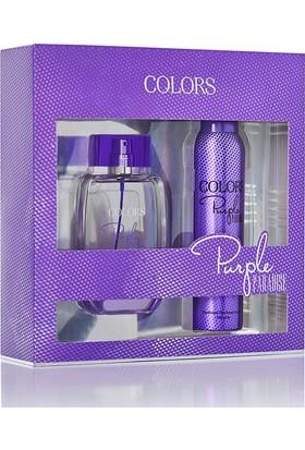 Rebul Colors Purple Paradise Bayan Edp 75Ml+Deodorant 150Ml