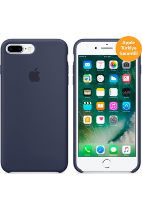 Apple iPhone 8 Plus - iPhone 7 Plus Silikon Kılıf - Gece Mavisi - MMQU2ZM/A (Apple Türkiye Garantili)