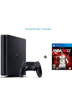 Sony Ps4 Slim 500 GB Oyun Konsolu + Nba 2K17 Ps4 Oyun-Türkçe Menü