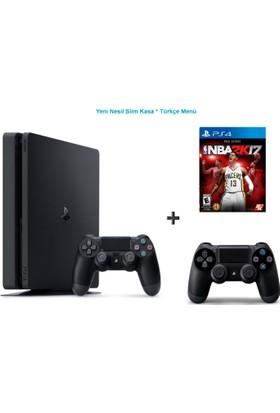 Sony Ps4 Slim 500 GB Oyun Konsolu + Nba 2K17 + 2. Kol-Türkçe Menü