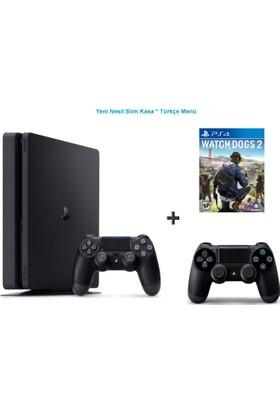 Sony Ps4 Slim 500 GB Oyun Konsolu + Watch Dogs 2 + 2. Kol-Türkçe Menü