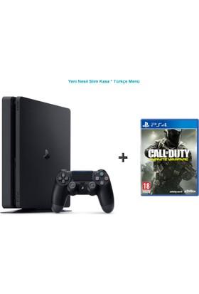 Sony Ps4 Slim 500 GB Oyun Konsolu + Call Of Duty: Infinite Warfare-Türkçe Menü