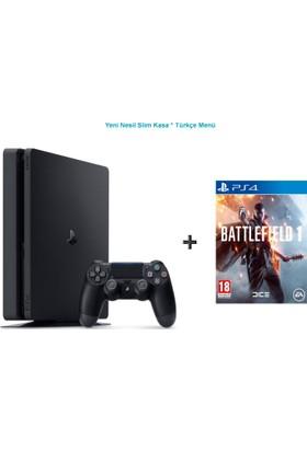 Sony Ps4 Slim 500 GB Oyun Konsolu + Battlefield 1 (Türkçe) -Türkçe Menü