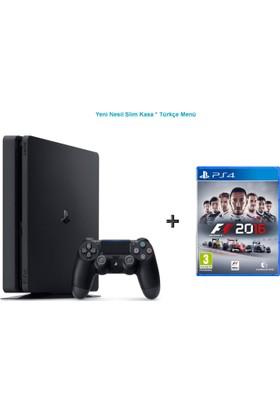 Sony Ps4 Slim 500 GB Oyun Konsolu + F1 Formula Ps4 Oyun-Türkçe Menü