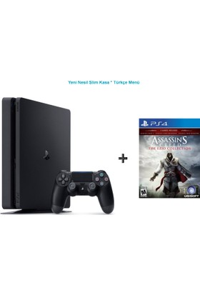 Sony Ps4 Slim 500 GB Cuh - 2016A Oyun Konsolu + Assassins Creed Ezio Collection Ps4 Oyun