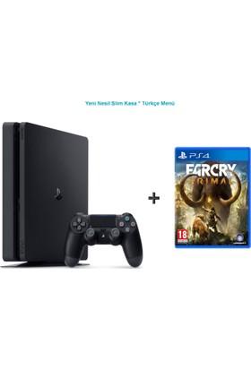 Sony Ps4 Slim 500 GB Cuh - Oyun Konsolu + Far Cry Prımal Ps4 Oyun-Türkçe Menü