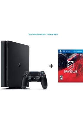 Sony Ps4 Slim 500 GB Oyun Konsolu + Driveclub Oyun-Türkçe Menü