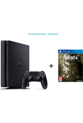 Sony Ps4 Slim 500 GB Oyun Konsolu + Fallout 4 Ps4 Oyun-Türkçe Menü