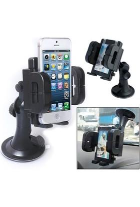 Helen's Car Care Universal 360 Derece Dönebilen Vantuzlu Araç İçi Telefon Tutucu