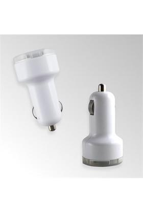 Helen's Car Care Çift USB Girişli 2.1 AMP Araç Çakmak Soketi - Beyaz