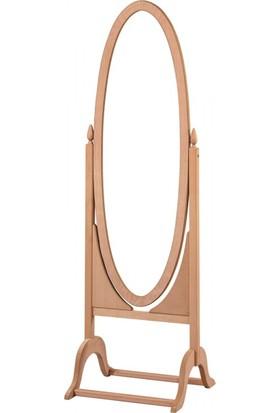 Masifart 4120 Küçük Ovel Boy Aynası Cilasız Ahşap