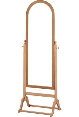 Masifart 4122 Ladin Ayaklı Boy Aynası Cilasız Ahşap