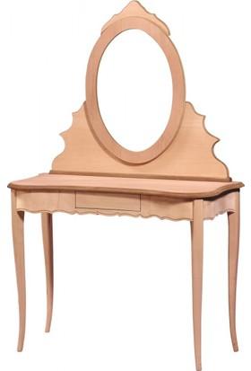Masifart 4570 Klasik Makyaj Masası Cilasız Ahşap