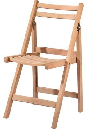 Masifart 7138 Katlanır Sandalye Cilasız Ahşap
