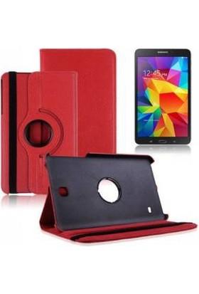 Miray Samsung Galaxy Tab A Kılıf T350 Standlı Kapaklı - Kırmızı