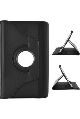 Miray Samsung Galaxy Tab E T560 Kılıf Standlı Kapaklı - Siyah