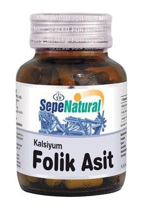 Sepe Natural Sepe Natural Folik Asit 400µg & Kalsiyum 90 Kapsül X 480Mg   Folic Aci
