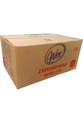 Wex Z Katlama Havlu 200 Lü(12 Paket)