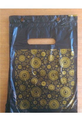 Ecoplast Baskılı Mini Poşet Yırtmalı Siyah 26X38 Cm No:2 1000 Adet