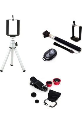 Fsbt Selfıe Özçekim Tripod Monopod Lens Kumandalı Set