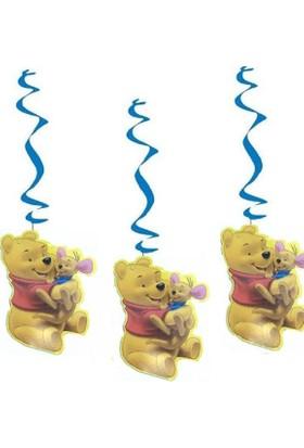 Partypark Winnie The Pooh 3'Lü Asma Süs