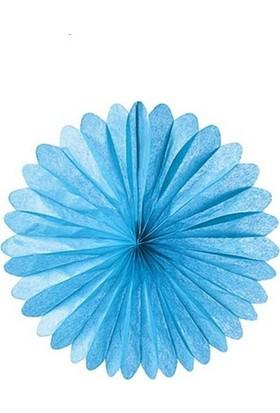 Partypark Kağıt Yelpaze Süs-Mavi