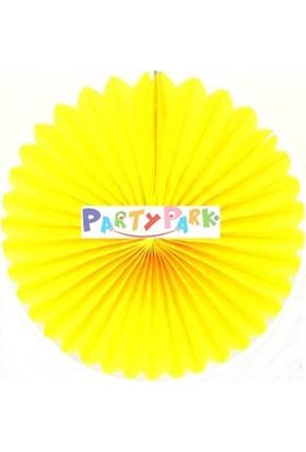 Partypark Kağıt Yelpaze Süs-Sarı