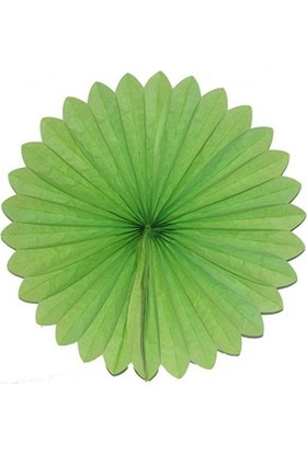 Partypark Kağıt Yelpaze Süs-Yeşil