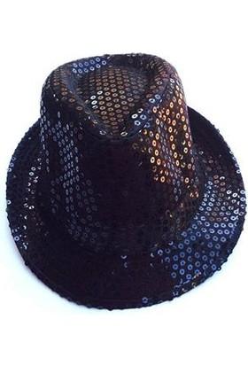 Partypark Parlak Parti Şapkası-Siyah