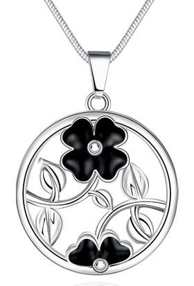 Myfavori Kolye Yeni Takı Modelleri Marka Tasarım Yuvarlak Çiçek Kolye Gümüş Kaplama Kolyeler