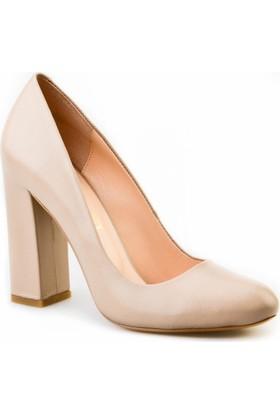 Cabani Topuklu Günlük Kadın Ayakkabı Vizon Deri
