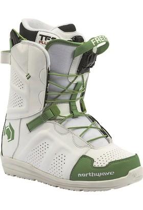 Northwave Freedom White/Green Snowboard Ayakkabısı Yeşil - Beyaz