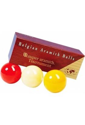 Aramith Süper Tournament Üç Bant Karambol Bilardo Topu Seti