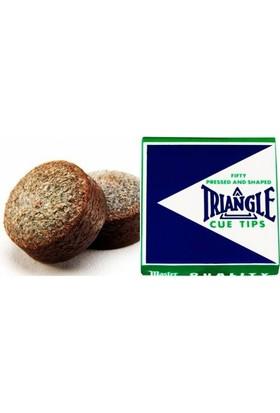 Triangle Krom Tabaklanmış Deri Sert Premium Istaka Uç (50 Adet Istaka Ucu)