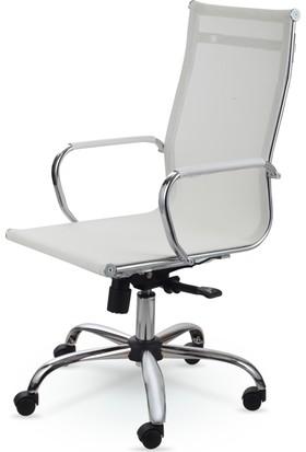 Mezura Ofis Air Chrome Yönetici Koltuğu Beyaz