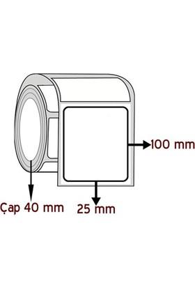 Barkodsarf Eko Termal 100 mm x 25 mm Barkod Etiketi Çap 40 mm (6 Rulo)