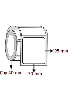 Barkodsarf Eko Termal 195 mm x 70 mm Barkod Etiketi Çap 40 mm (6 Rulo)