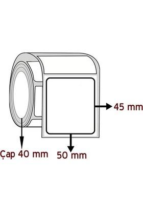 Barkodsarf Lamine Termal 45 mm x 50 mm Barkod Etiketi Çap 40 mm (6 Rulo)