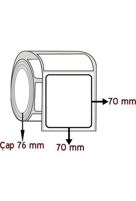 Barkodsarf Lamine Termal 70 mm x 70 mm Barkod Etiketi Çap 76 mm (6 Rulo)