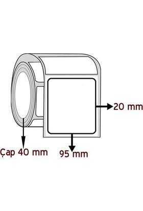 Barkodsarf Lamine Termal 20 mm x 95 mm Barkod Etiketi Çap 40 mm (6 Rulo)