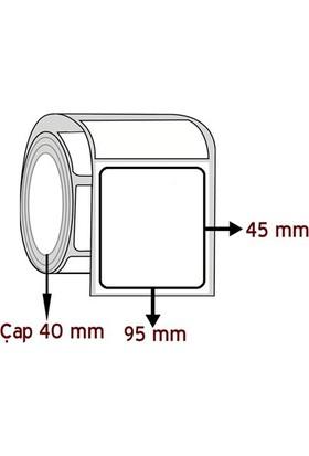 Barkodsarf Lamine Termal 45 mm x 95 mm Barkod Etiketi Çap 40 mm (6 Rulo)