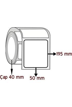 Barkodsarf Lamine Termal 195 mm x 50 mm Barkod Etiketi Çap 40 mm (6 Rulo)