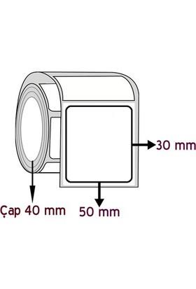 Barkodsarf Opak Pp 30 mm x 50 mm Barkod Etiketi Çap 40 mm (6 Rulo)