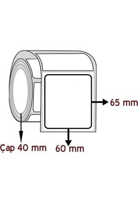 Barkodsarf Opak Pp 65 mm x 60 mm Barkod Etiketi Çap 40 mm (6 Rulo)