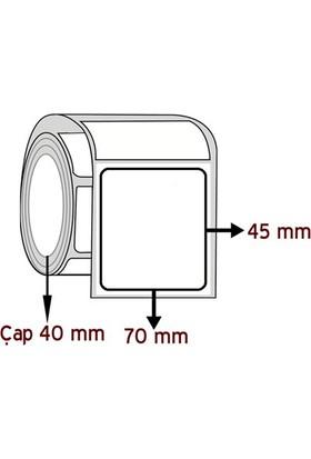 Barkodsarf Opak Pp 45 mm x 70 mm Barkod Etiketi Çap 40 mm (6 Rulo)