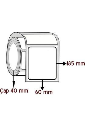 Barkodsarf Opak Pp 185 mm x 60 mm Barkod Etiketi Çap 40 mm (6 Rulo)